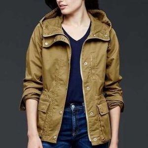 Gap hooded utility jacket tan XL